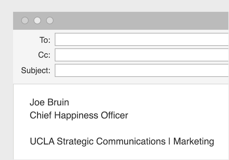 UCLA Email Staff Signatures