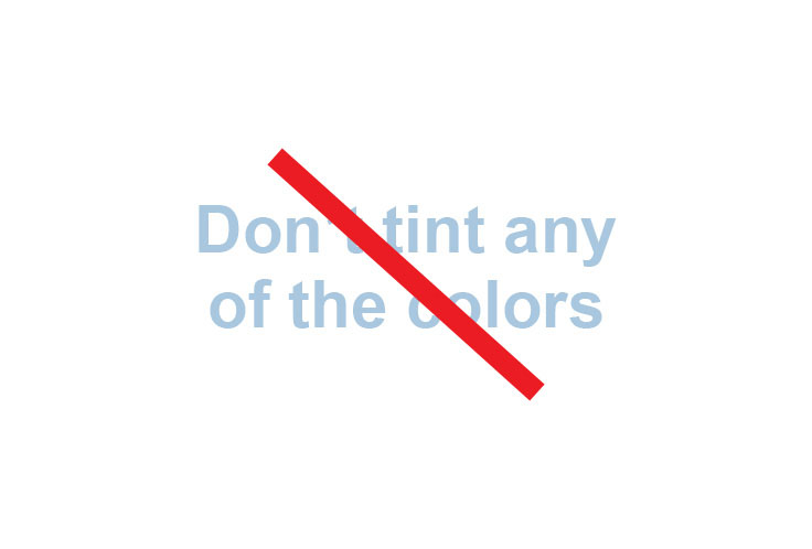 Don't tint any of the colors, spelled out in pale blue