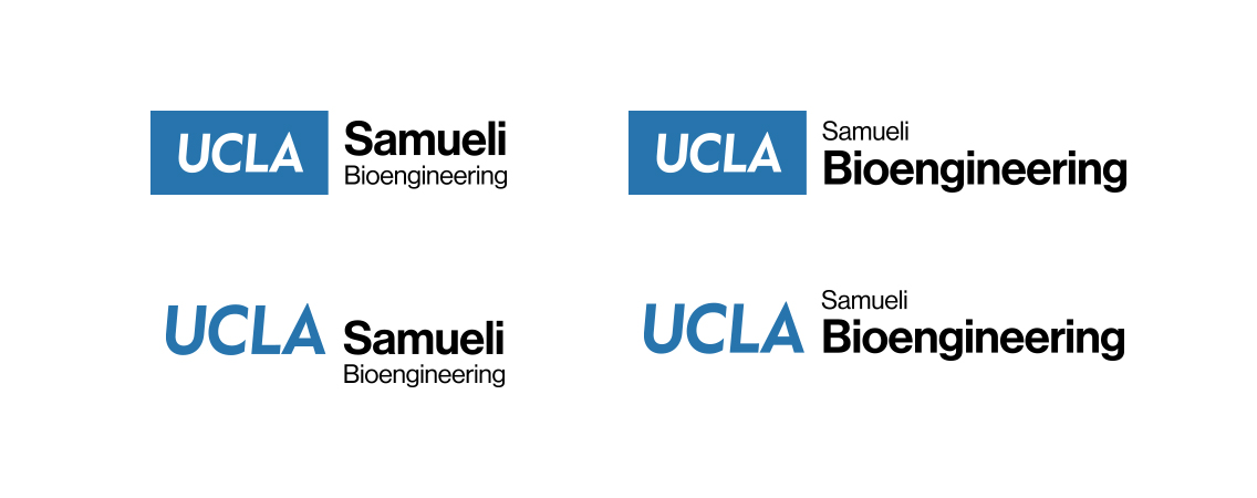 Four logos for the Bioengineering Department in the Samueli School
