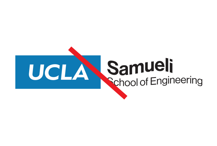 Example shows altered campus logo on gold
