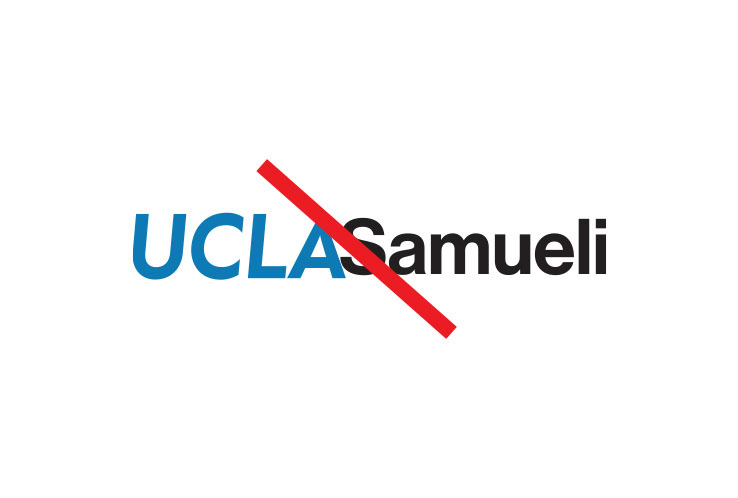 "Example with no space between the campus logo and the name ""Samueli"""