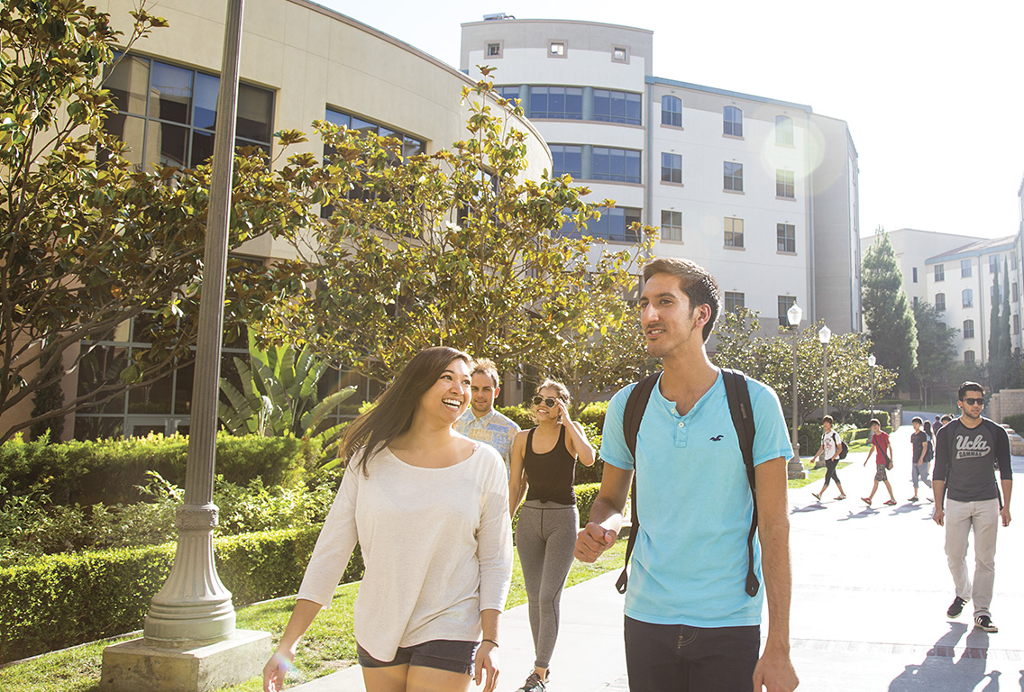 UCLA undergrads walking on campus